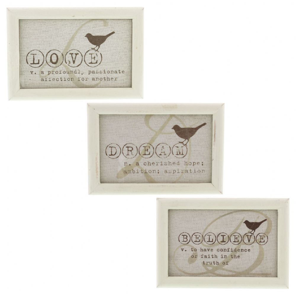 Dictionary Bird Print Frame Set of 3